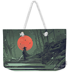 Red Moon Night Weekender Tote Bag
