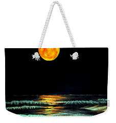 Red Moon Rising Weekender Tote Bag by Antonia Citrino