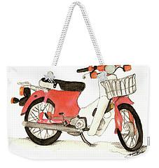 Red Motor Bike Weekender Tote Bag