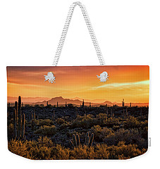 Weekender Tote Bag featuring the photograph Red Mountain Sunset Part Two  by Saija Lehtonen