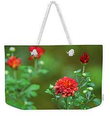 Red Mums Weekender Tote Bag