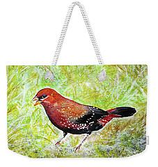Red Munia Weekender Tote Bag