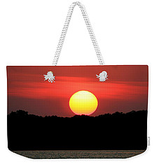 Red Myakka Sunset Weekender Tote Bag by Myrna Bradshaw