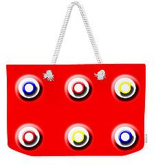 Red Nine Squared Weekender Tote Bag