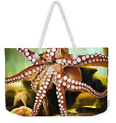 Red Octopus Weekender Tote Bag
