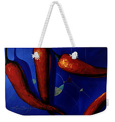 Red On Blue Weekender Tote Bag