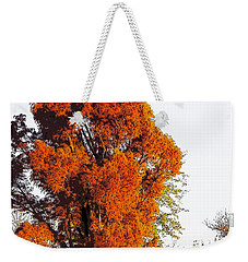 Red-orange Fall Tree Weekender Tote Bag