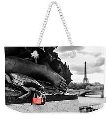 Red Padlocks In Paris Weekender Tote Bag