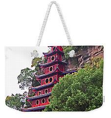 Red Pagoda Weekender Tote Bag