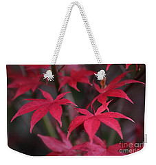 Red Palms  Weekender Tote Bag by Yumi Johnson
