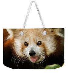 Red Panda Weekender Tote Bag by Lana Trussell