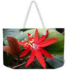 Red Passion Flower Weekender Tote Bag