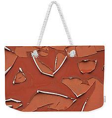 Red Peeling Paint Weekender Tote Bag