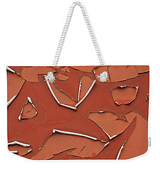 Red Peeling Paint Weekender Tote Bag