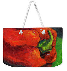 Red Pepper Still Life Weekender Tote Bag