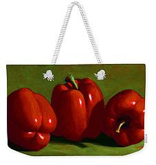 Red Peppers Weekender Tote Bag