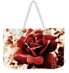 Red Petals Weekender Tote Bag