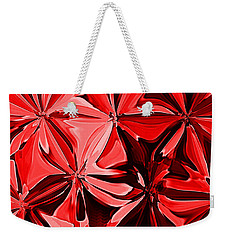 Red Pinched And Gathered Weekender Tote Bag