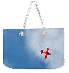 Red Plane Weekender Tote Bag