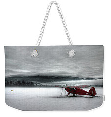 Red Plane In A Monochrome World Weekender Tote Bag