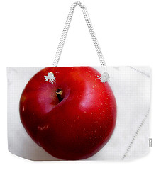 Red Plum On A White Cloth Weekender Tote Bag