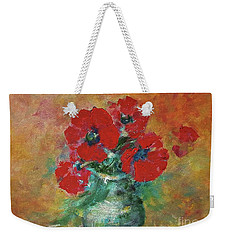 Red Poppies In A Vase Weekender Tote Bag
