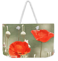 Red Poppies Weekender Tote Bag