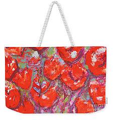 Red Poppies Weekender Tote Bag by Gallery Messina