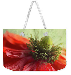 Weekender Tote Bag featuring the photograph Red Poppy by Elena Nosyreva