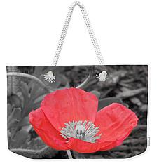 Red Poppy Flower Weekender Tote Bag