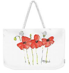 Red Poppy Play Weekender Tote Bag