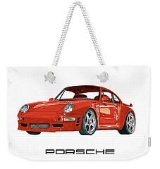 Red Porsche 993 1997 Twin Turbo R Weekender Tote Bag by Jack Pumphrey