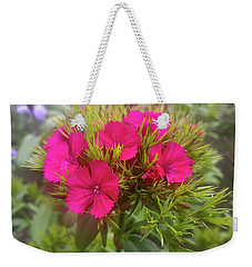 Red-purple Flower Weekender Tote Bag