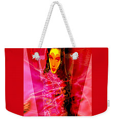 Red Queen Of Hearts Weekender Tote Bag by Seth Weaver