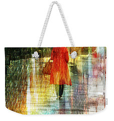 Red Rain Day Weekender Tote Bag