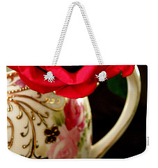 Red Red Rose Weekender Tote Bag by Lainie Wrightson