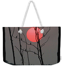 Red Rise Cormorants Weekender Tote Bag
