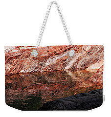 Red River Weekender Tote Bag by Donna Blackhall