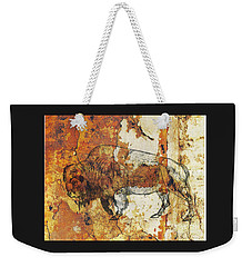 Weekender Tote Bag featuring the photograph Red Rock Bison by Larry Campbell