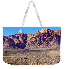 Weekender Tote Bag featuring the photograph Red Rock Canyon Nca Pano by Janis Knight