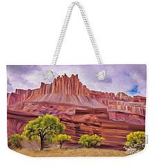 Red Rock Cougar Weekender Tote Bag by Walter Colvin