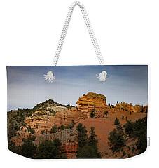 Red Rock Of Utah Morning Weekender Tote Bag by Kathleen Scanlan