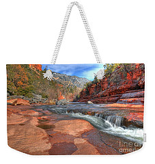 Weekender Tote Bag featuring the photograph Red Rock Sedona by Kelly Wade