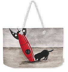 Red Rocket Weekender Tote Bag by Edwin Alverio