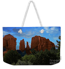 Weekender Tote Bag featuring the photograph Red Rocks Of Sedona Arizona by Anne Rodkin