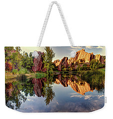 Red Rocks Reflection Weekender Tote Bag
