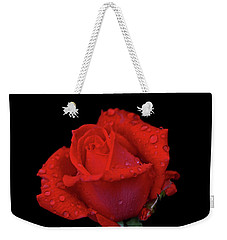 Weekender Tote Bag featuring the photograph Red Rose 013 by George Bostian
