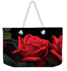 Weekender Tote Bag featuring the photograph Red Rose 014 by George Bostian