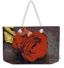 Red Rose Abstract Weekender Tote Bag by Shirley Stalter