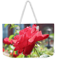 Red Rose Weekender Tote Bag by Brian McDunn